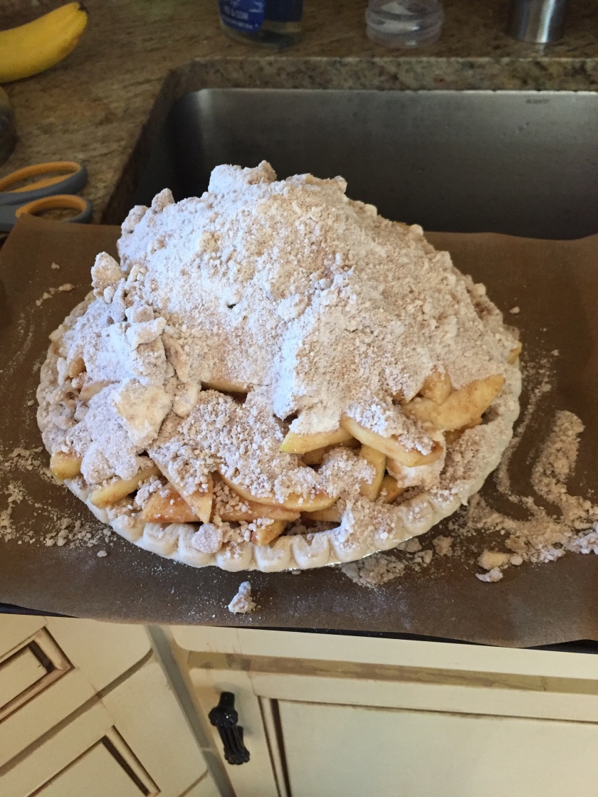 Vegan Apple Pie before it hits the oven
