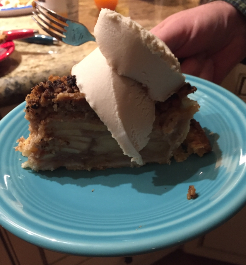 Vegan Apple Pie with Almond Milk ice cream