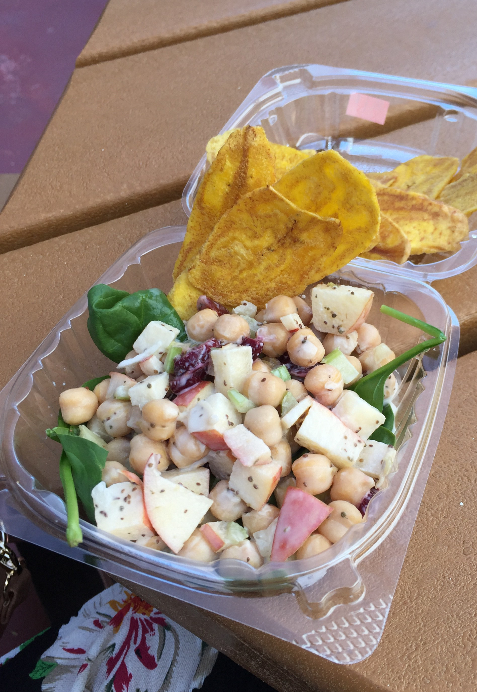 Chickpea Salad with Plantain Chips